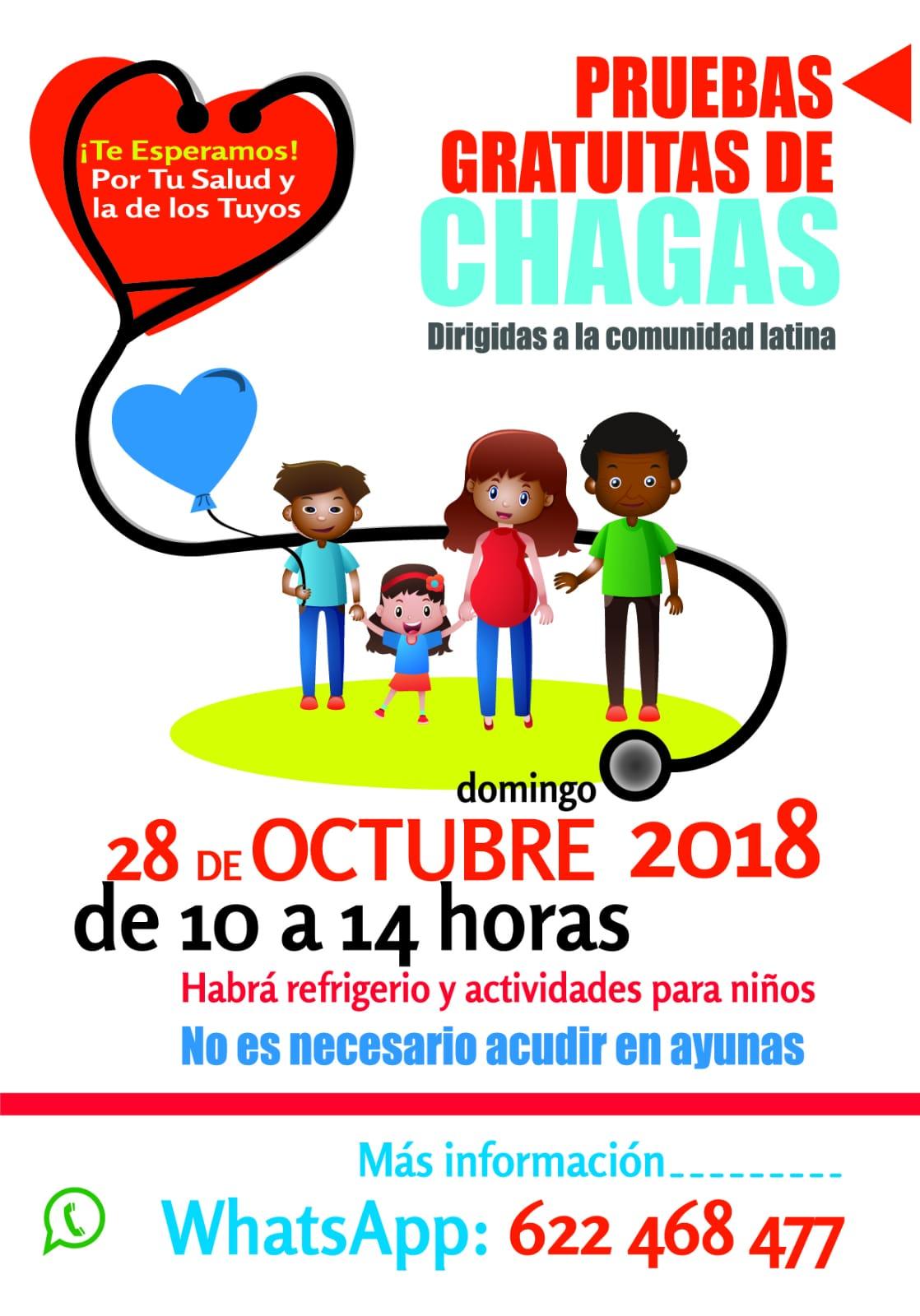 Pruebas gratuitas del mal del Chagas. 28 Octubre. Alicante