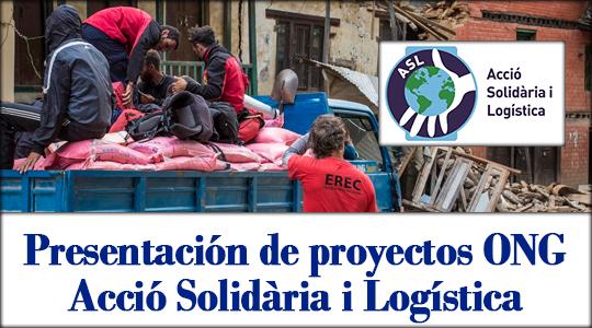 """Presentación de la ONG """"Acció Solidàri I Logística"""". 22 Octubre. Colegio Enfermería Alicante"""