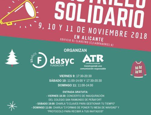 VII RASTRILLO SOLIDARIO. A cargo de Fundación DASYC. 9,10,11 Noviembre