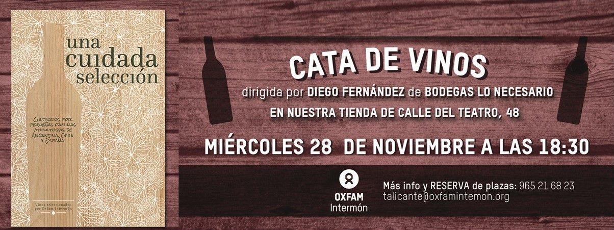 Cata de vinos a cargo de Oxfan intermon Alicante. 28 Noviembre