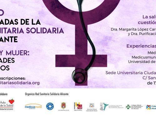 """III Jornadas de la RSS de Alicante: """"Salud y mujer: necesidades y desafíos"""". 13 Mayo."""