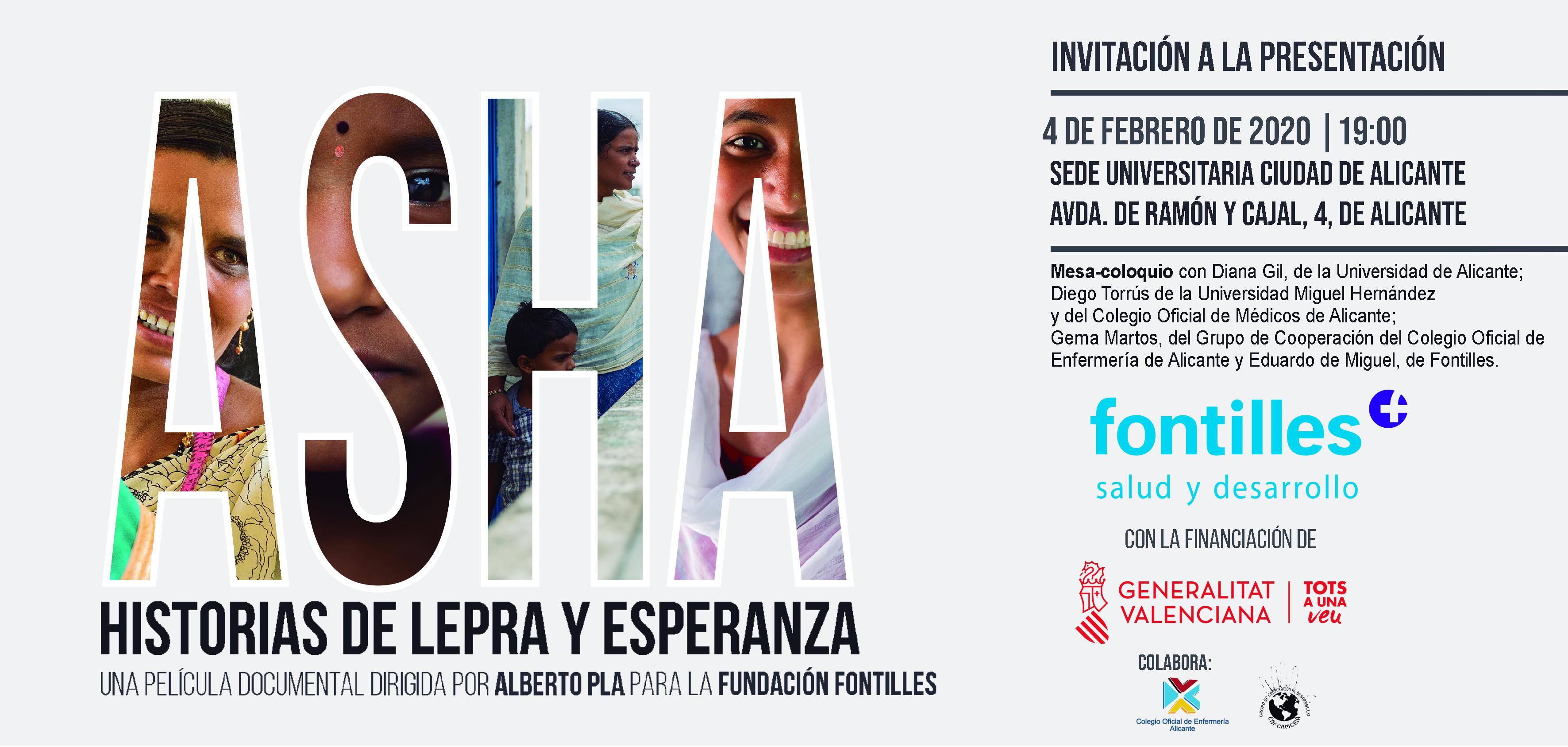 Presentación: ASHA. Historias de lepra y esperanza. Mesa Coloquio. 4 Febrero