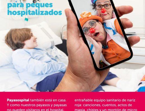Sonrisas desde casa para peques hospitalizados. A cargo de payasospital.