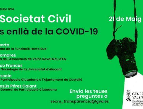 LA SOCIETAT CIVIL MÉS ENLLÀ DE LA COVID-19